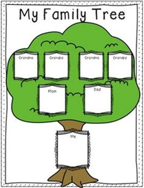 family tree template for kindergarten preschool family tree template family tree template