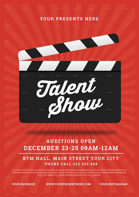 Talent Show Flyer By Lilynthesweetpea Graphicriver Free Printable Talent Show Flyer Template