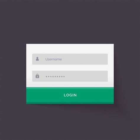 simple login form template simple login form template vector free