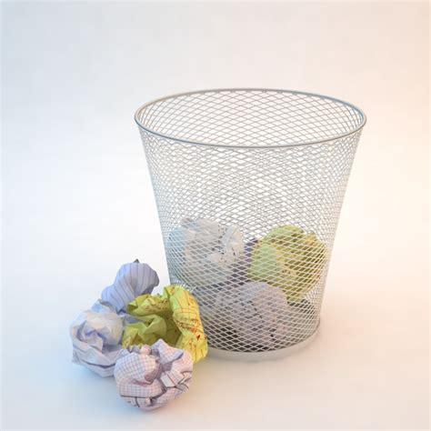 waste paper basket 3d model 3d model crumpled paper waste basket