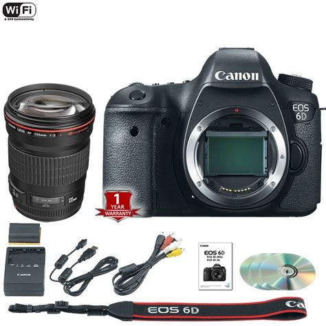 new canon dslr new canon 6d dslr with ef 135mm f 2l usm lens