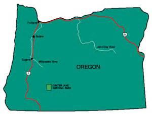 map for oregon oregon facts symbols tourist attractions