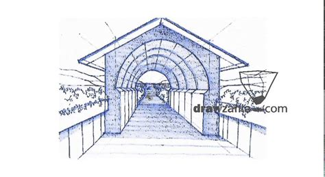 How To Draw A Tunnel In Perspective