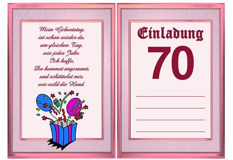 Kostenlose Vorlage Geburtstagseinladung einladung zum 70 geburtstag vorlage kostenlos