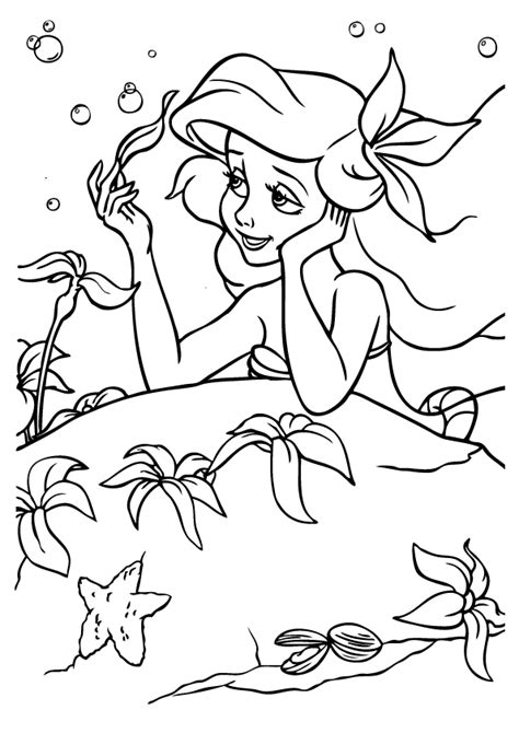 ariel the little mermaid coloring pages for girls to print the little mermaid coloring pages 1 coloring kids