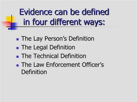 theme evidence definition ppt criminal evidence powerpoint presentation id 1402447