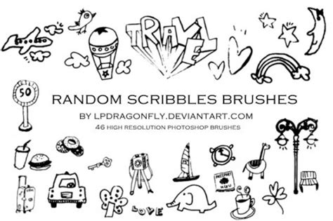 how to create a doodle in photoshop doodle brushes for photoshop 500 designs