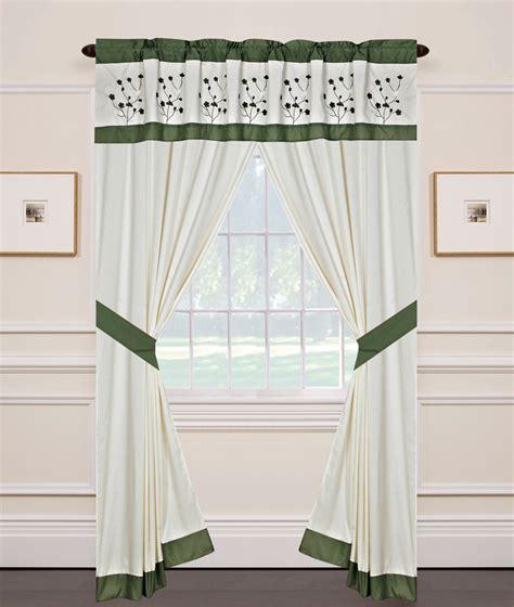 jade curtains jade curtain set w valance tiebacks sheers