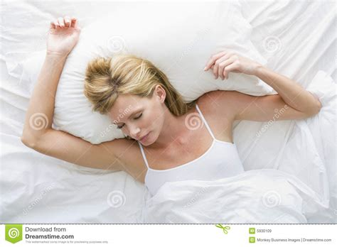 lying in bed woman lying in bed royalty free stock images image 5930109