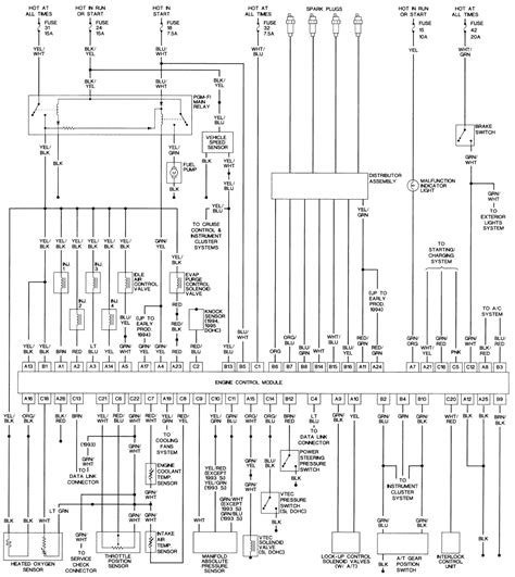 95 honda civic ecu wiring diagram wiring diagram