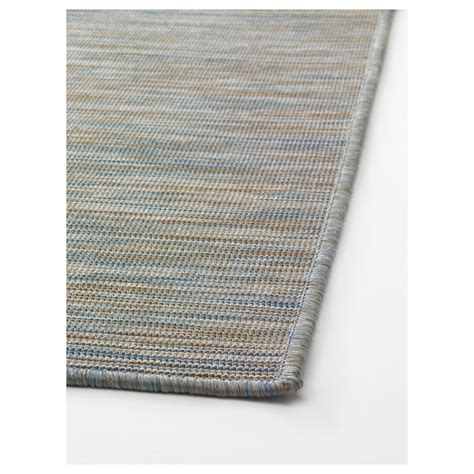 outdoor rugs ikea hodde rug flatwoven in outdoor blue beige 80x200 cm ikea