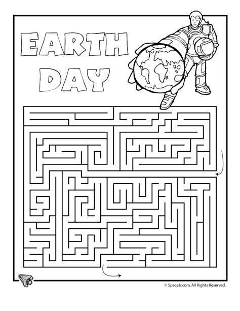 printable earth day activity sheets earth day printable mazes earth day maze 1 classroom jr