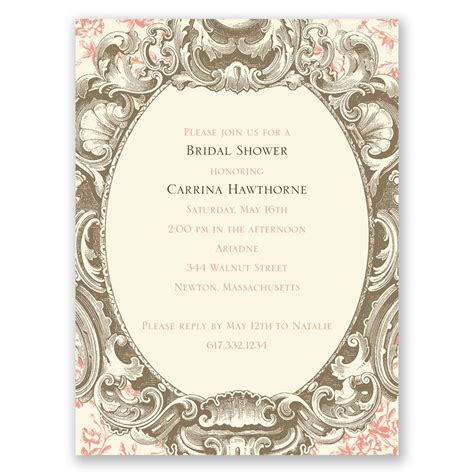 Fancy Wedding Invitations by Fancy Frame Bridal Shower Invitation Invitations