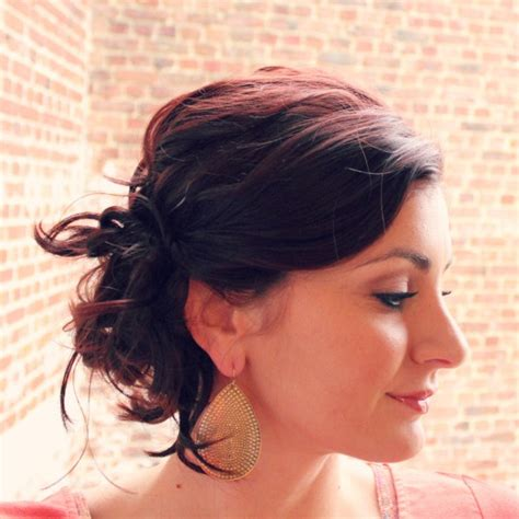 directions for easy updos for medium hair 18 stylish easy updo for short hairs 2015