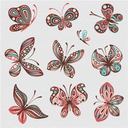 butterfly pattern in c butterflies cross stitch pinterest butterfly cross