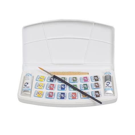 Gogh Watercolor Plastic Set 24 Half Pans buy gogh watercolor 18 pan pocketbox
