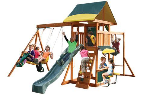 cedar summit swing set cedar summit brookridge wooden swing set
