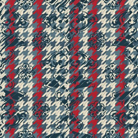 houndstooth pattern ai floral background with houndstooth pattern vector free