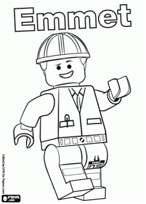 Coloring Pages Lego Movie Emmet | emmet lego movie coloring pages www pixshark com