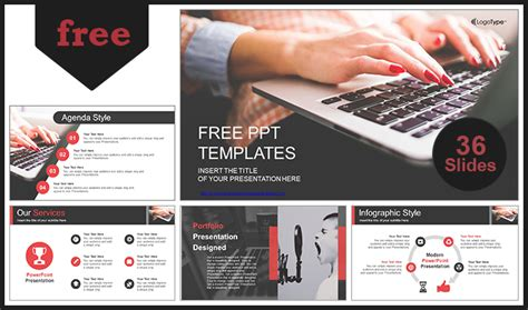 computer design for powerpoint computer business using laptop powerpoint template