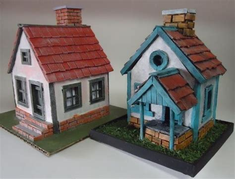 house diorama here are two mini house paper models for diorama created