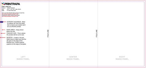 Find A Printing Template Printpapa Com 5x7 Tri Fold Template