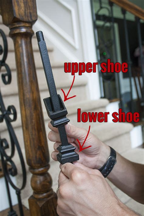 how to install a banister how to install iron balusters view along the way