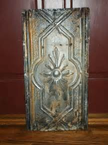 wonderfully rustic antique tin ceiling tile by