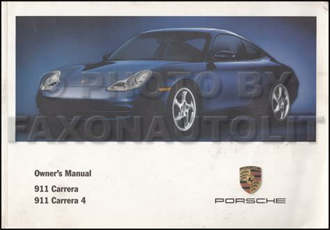 car repair manuals online pdf 2001 porsche 911 navigation system 2001 porsche 911 carrera owner s manual original