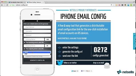 remote iphone ios email setup configure iphone email accounts remotely youtube