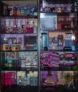 Bookcase Barbie House Monster High Doll House Monster High Dead Tired Bedroom
