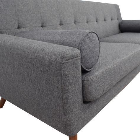 charcoal grey tufted sofa 30 inmod inmod charcoal grey tufted lars sofa with