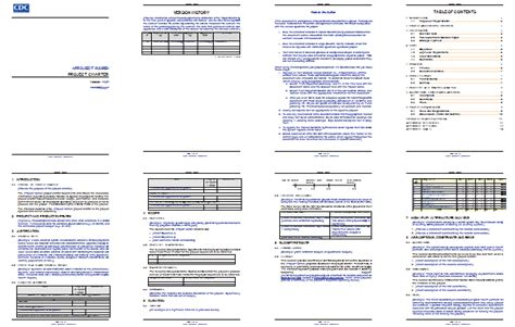 project charter template  samples  microsoft word