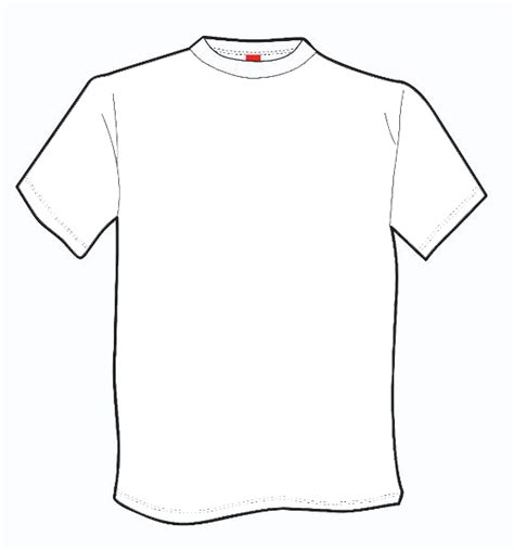 outline of a t shirt template free download clip art
