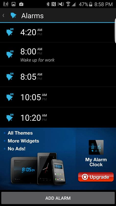 Visual Alarm my alarm clock soft for android free my