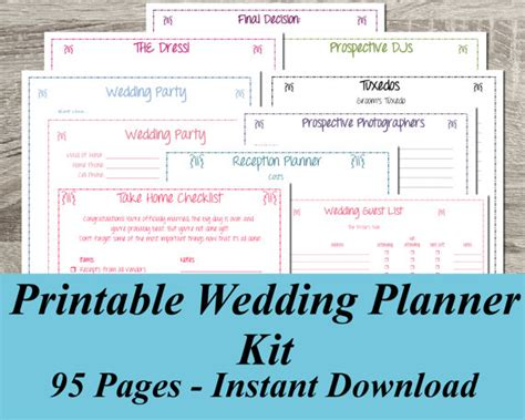 Wedding Checklist Book Printable Wedding Planner Instant Download Ultimate Wedding