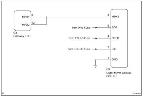 toyota side mirror wiring diagram wiring diagrams
