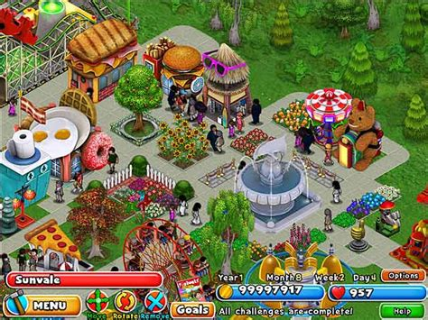 theme park builder dream builder amusement park game play free download
