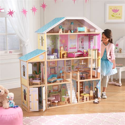 dollhouse play majestic mansion dollhouse with 34 accessories doll house