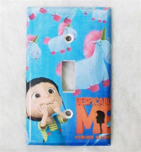cute light switch covers despicable me agnes loves fluffy unicorns light switch