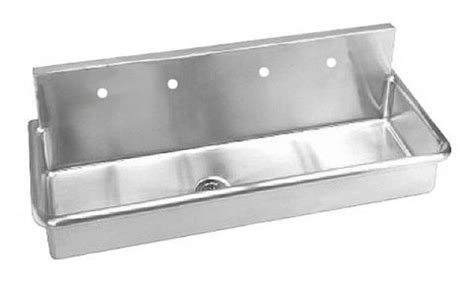 wall hung stainless steel sinks stainless steel wall mounted multi station wash up sink