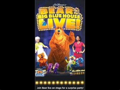 bear inthe big blue house live opening to bear in the big blue house live 2003 vhs youtube