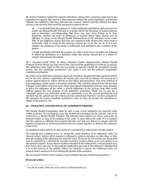section 24 mental health act mental health act 2001 republic of ireland part i