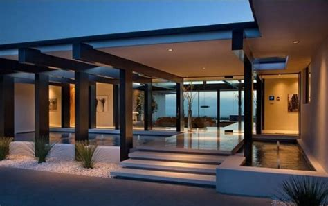 vera wangs modern glass  steel home  beverly hills
