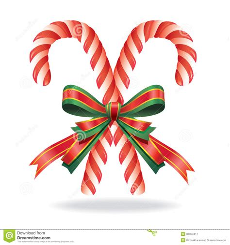outdoor candycane ribbon decoration and ribbon stock vector image 38954417