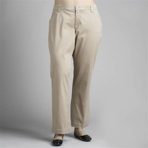 lee comfort waist pants lee women s plus comfort waist twill pants