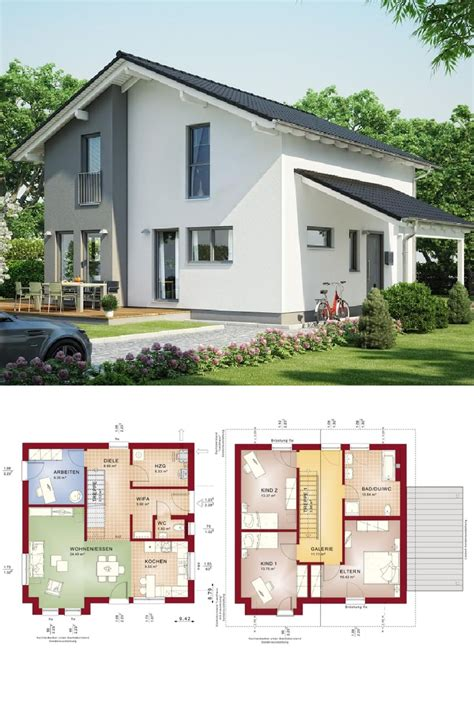 Fertighaus Grundrisse Einfamilienhaus by Einfamilienhaus Mit Satteldach Haus Evolution 136 V7