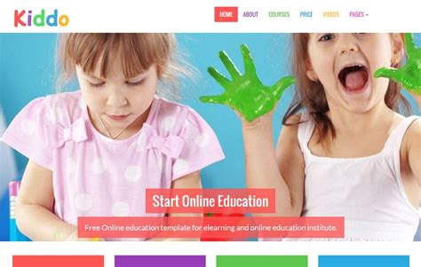 bootstrap templates for education free download kiddo free school website template webthemez