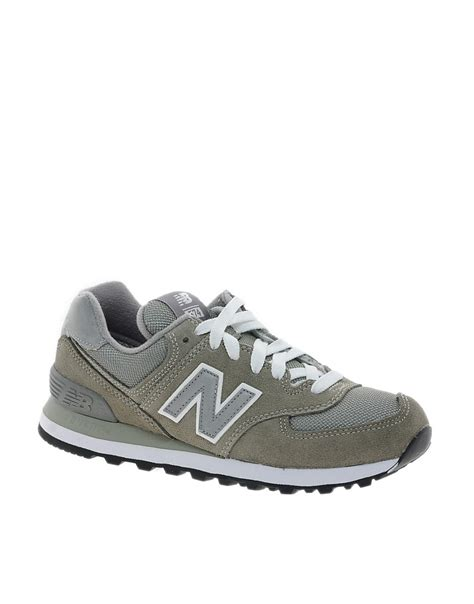 New Balance 574 Grey new balance new balance 574 grey trainers at asos