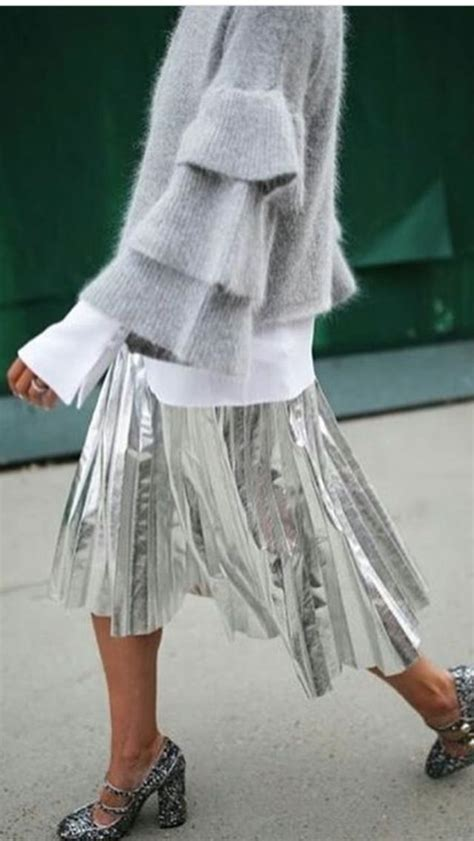 Gwenna Black Midi Dress best 25 silver skirt ideas on silver metallic